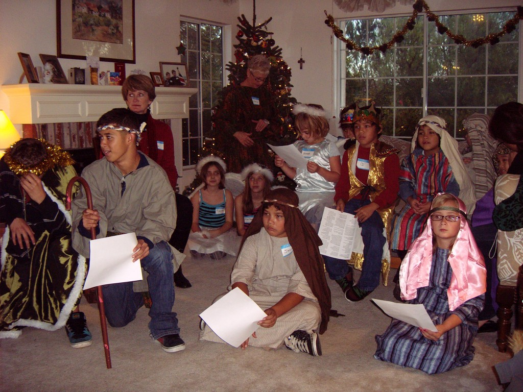 Our annual Christmas party and Nativity play.