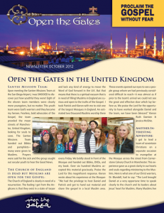 Open the Gates Newsletter