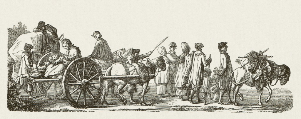 Huguenot families escaping from France