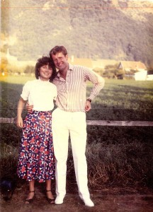 Martyn and Sian in the French Alps in 1985, one year before their wedding