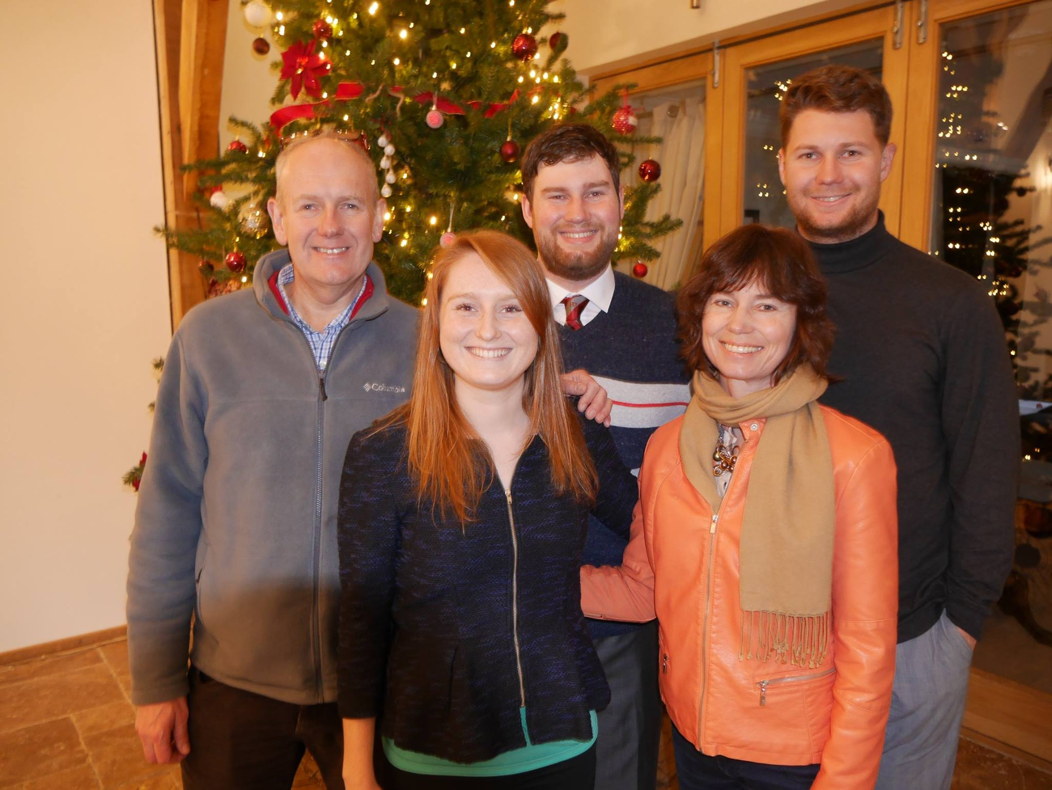 Sian and Martyn with their children in 2015, a year after they arrived in France.